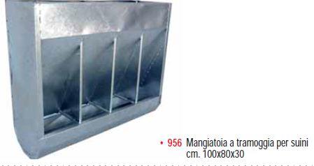 MANGIATOIA TRAMOGGIA PER SUINETTI 100x30x80h