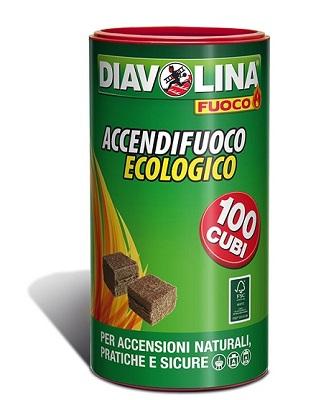 ACCENDIFUOCO ECOLOGICO 100 CUBETTI