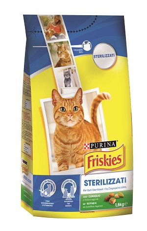 FRISKIES STERILISED CAT KG.1,5 TACCHINO E VERDURE