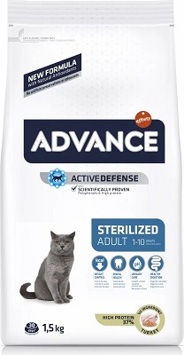 ADVANCE CAT STERILIZED KG 1,5 TACCHINO