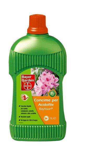 CONCIME IDEALE AZALEE,CAMELIE,ORTENSIE BAYFOLAN ACIDOFILE litri 1