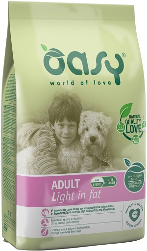 OASY DRY DOG ADULT LIGHT IN FAT KG.12