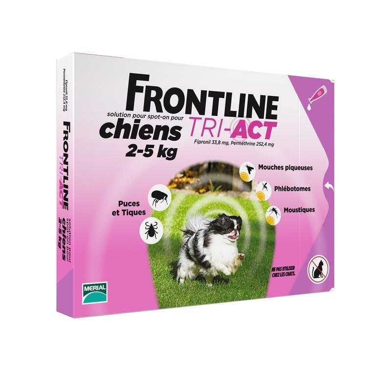 FRONTLINE TRI-ACT CANE TAGLIA  XS 2-5 KG x3 fiale