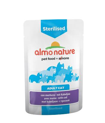ALMO PFC DAILY FUNCTIONAL CAT G.70 STERILISED CON MERLUZZO