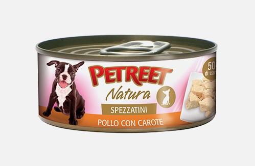 PETREET DOG G 150 SPEZZATINI POLLO CON CAROTE
