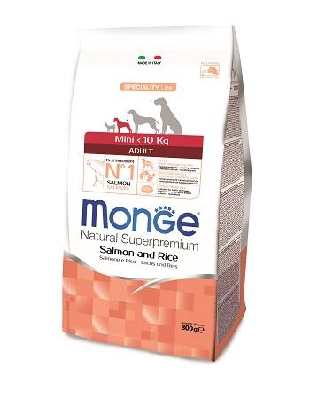 MONGE MINI ADULT SALMONE GR.800