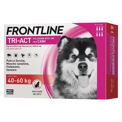 FRONTLINE TRI-ACT CANE TAGLIA  XL 40-60 KG 6 PIPETTE