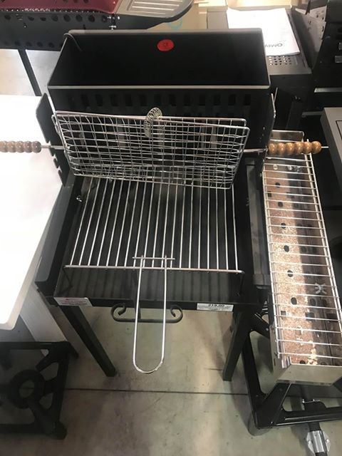 BARBEQUE ELITE 50X60+BBQ INOX ARROSTICINI+ 3 GRATE