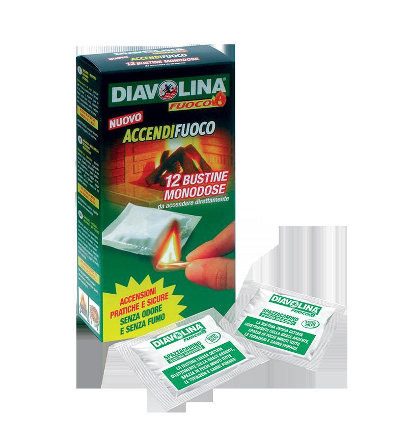 DIAVOLINA ACCENDIFUOCO 12 BUSTE