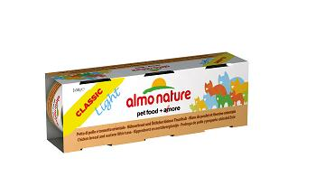 ALMO CLASSIC LIGHT CATS 3X50G PETTO DI POLLO E TONNETTO ORIENTALE