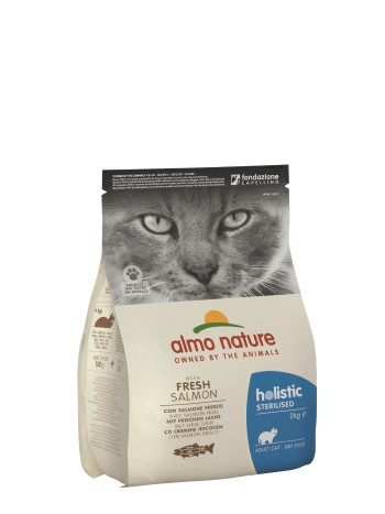 ALMO FUNCTIONAL STERILISED CAT KG.2 SALMONE E RISO