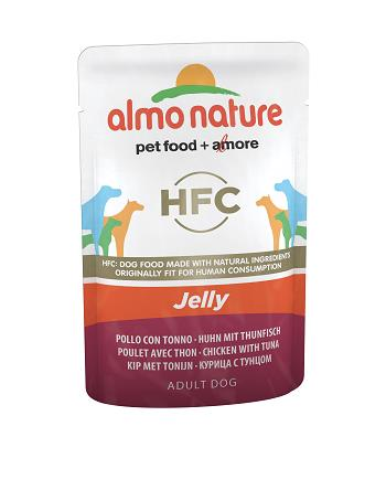ALMO HFC JELLY DOGS 70G POLLO E TONNO