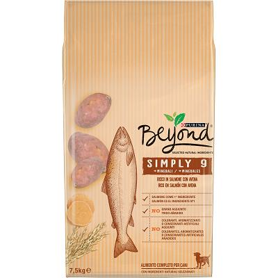 BEYOND SIMPLY 9 DOG KG 7,5 SALMONE CON AVENA