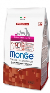 MONGE EXTRA SMALL ADULT 2,5KG