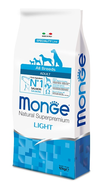 MONGE DOG ALL BREEDS LIGHT SALMONE E RISO KG 12
