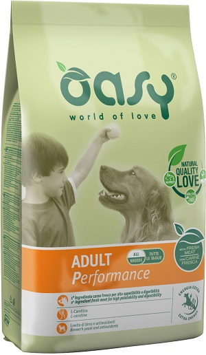 OASY DRY DOG ADULT PERFORMANCE KG 12
