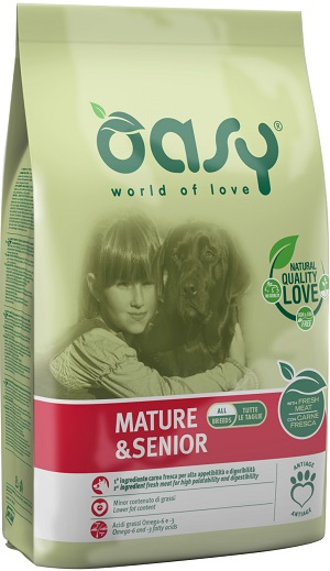 OASY DRY DOG MATURE E SENIOR KG 12
