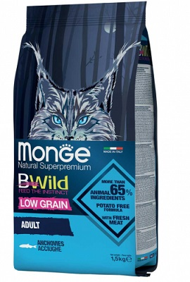 MONGE BWILD CAT ADULT ACCIUGHE KG.1,50