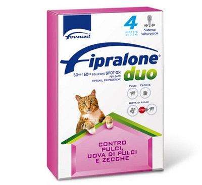 FIPRALONE DUO SPOT ON GATTO X4