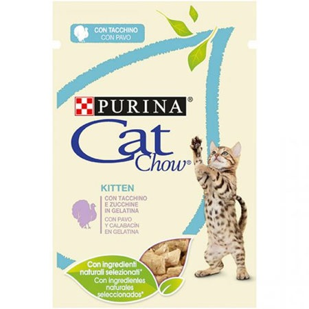 CAT CHOW BUSTA KITTEN TACCHINO E ZUCCHINE GR.85