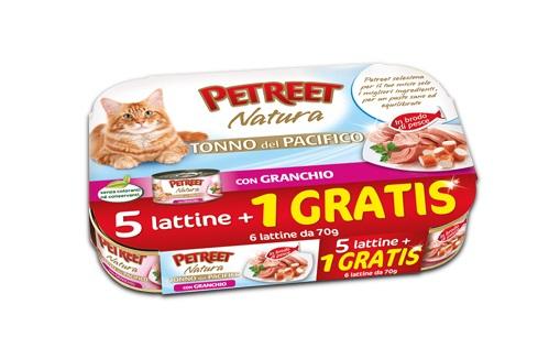 PETREET CAT TONNO DEL PACIFICO CON GRANCHIO 6X70G