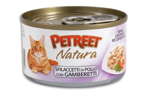 PETREET CAT G 70 SFILACCETTI POLLO CON GAMBERETTI