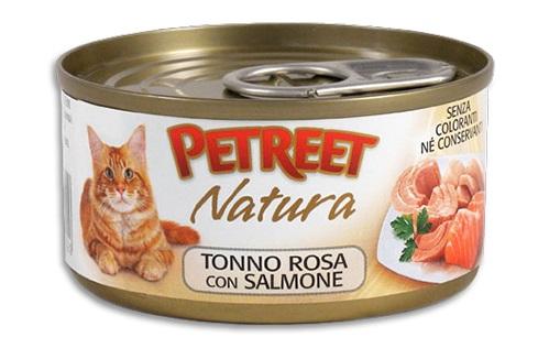 PETREET CAT 70 G SFILACCETTI POLLO CON SALMONE