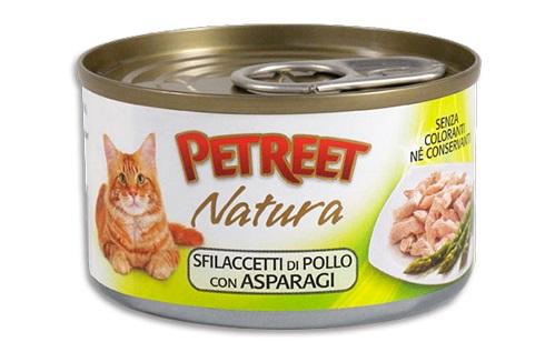 PETREET CAT 70 G SFILACCETTI POLLO CON ASPARAGI