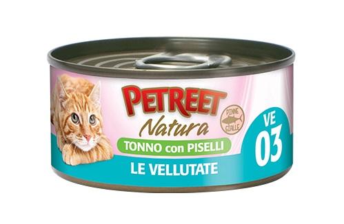 PETREET CAT 70 G VELLUTATE TONNO CON PISELLI