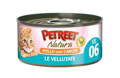 PETREET CAT 70 G VELLUATTE POLLO CON CAROTE