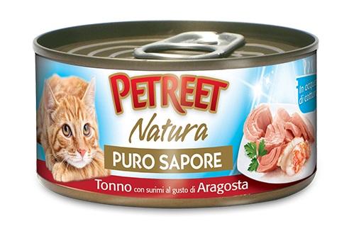 PETREET CAT 70 G PURO SAPORE TONNO CON ARAGOSTA