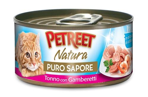 PETREET CAT 70 G PURO SAPORE TONNO CON GAMBERETTI