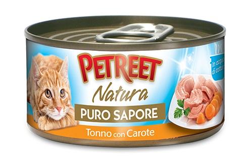 PETREET CAT 70G PURO SAPORE TONNO CON CAROTE