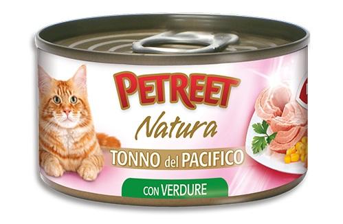 PETREET CAT 70G TONNO DEL PACIFICO CON VERDURE