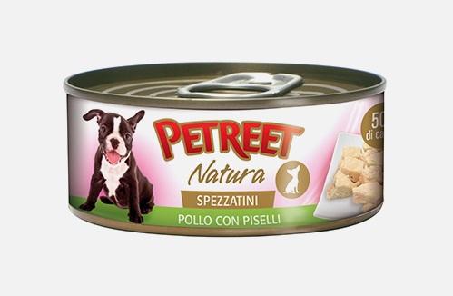 PETREET DOG 150 G SPEZZATINO POLLO E PISELLI