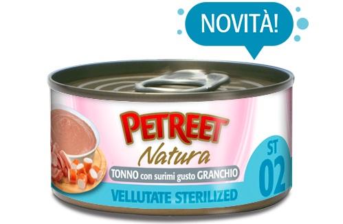 PETREET NATURA VELLUTATE STERILIZED TONNO-GRANCHIO G 70