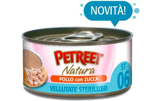 PETREET NATURA VELLUTATE STERILIZED POLLO ZUCCA G.70