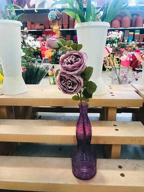RAMO ROSA INGLESE 3 fiori COLOR LILLA