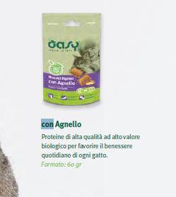 OASY SNACK CAT BISCOTTI RIPIENI CON AGNELLO GR.60