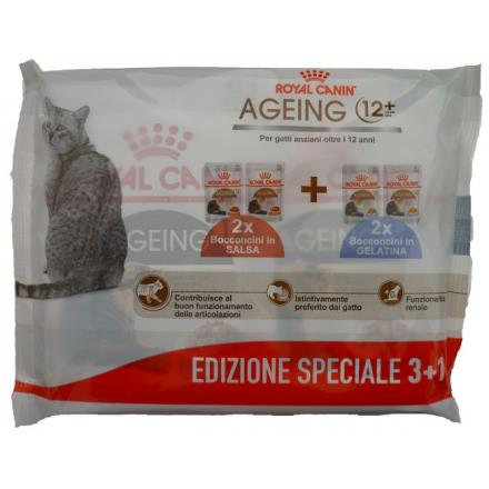 ROYAL CANIN multipacci AGEING+12 ( 2JELLY+2GRAVY )