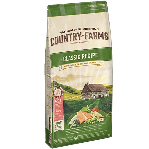 COUNTRY FARMS CLAS ADULT DOG SALMONE KG.12