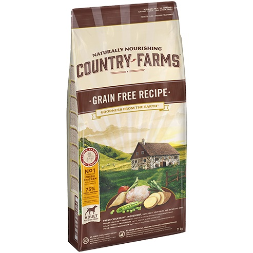 COUNTRY FARMS GRAIN FREE ADULT DOG POLLO KG.11
