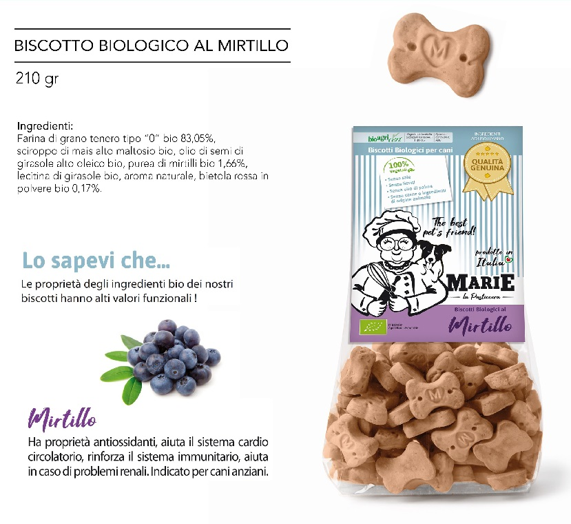 BISCOTTO BIOLOGICO AL MIRTILLO g 210