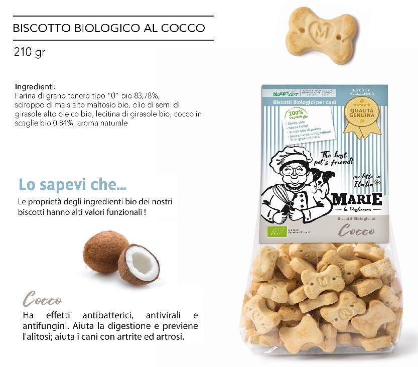 BISCOTTO BIOLOGICO AL COCCO g 210
