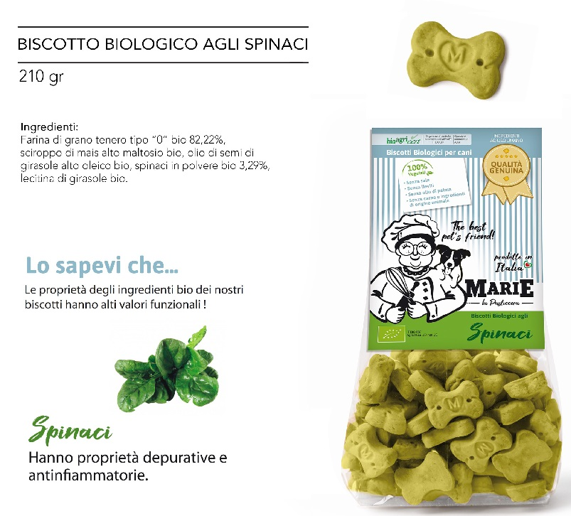BISCOTTO BIOLOGICO AGLI SPINACI