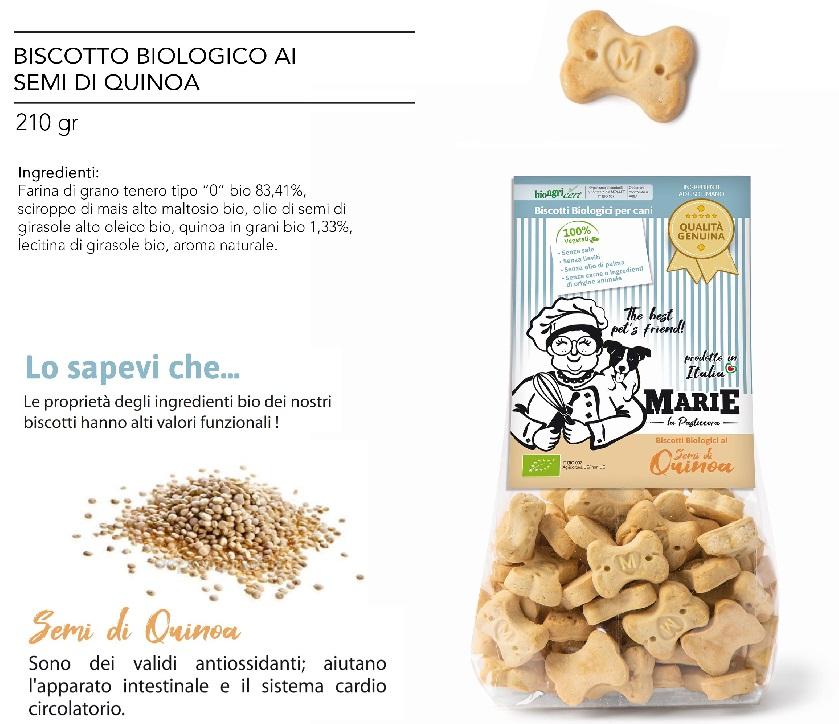 BISCOTTO BIOLOGICO CON SEMI DI QUINOA g 210