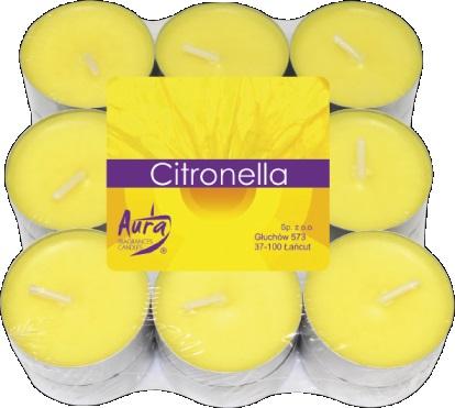CANDELE TEA LIGHTS CITRONELLA CON.18 PZ.