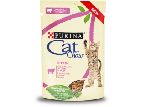 CAT CHOW KITTEN BUSTA AGNELLO E ZUCCHINE IN SALSA GR. 85 PURINA
