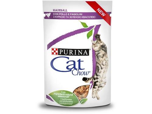 CAT CHOW HAIRBALL BUSTA POLLO E FAGIOLINI GR.85 PURINA