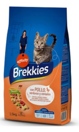 BREKKIES CAT MIX CHICKEN KG 1,5